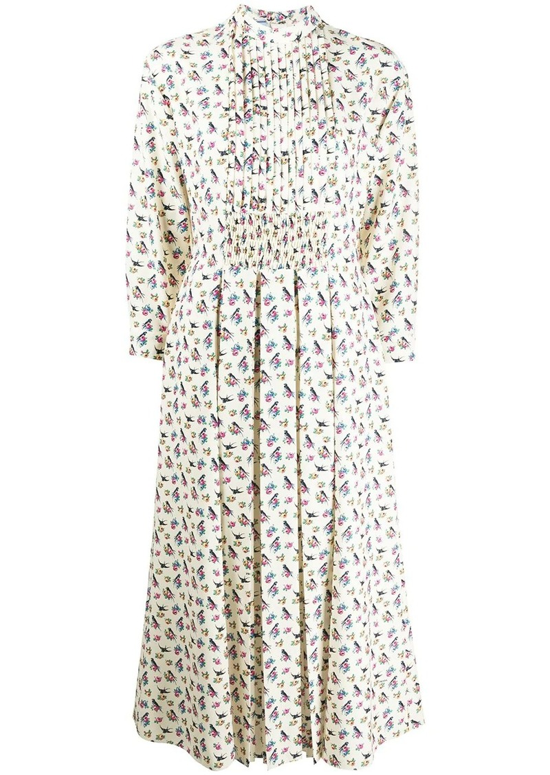 Prada bird print dress