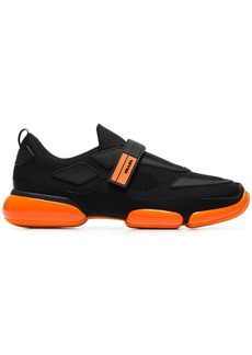 Prada black and orange Cloudbust sole detail sneakers
