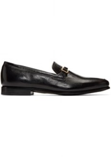 Prada Black Bar Loafers