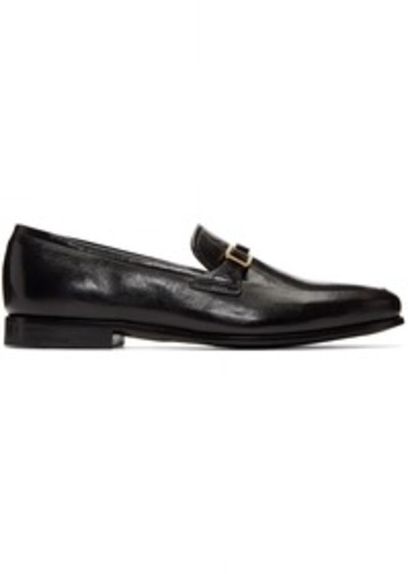 Prada Black Bar Loafers