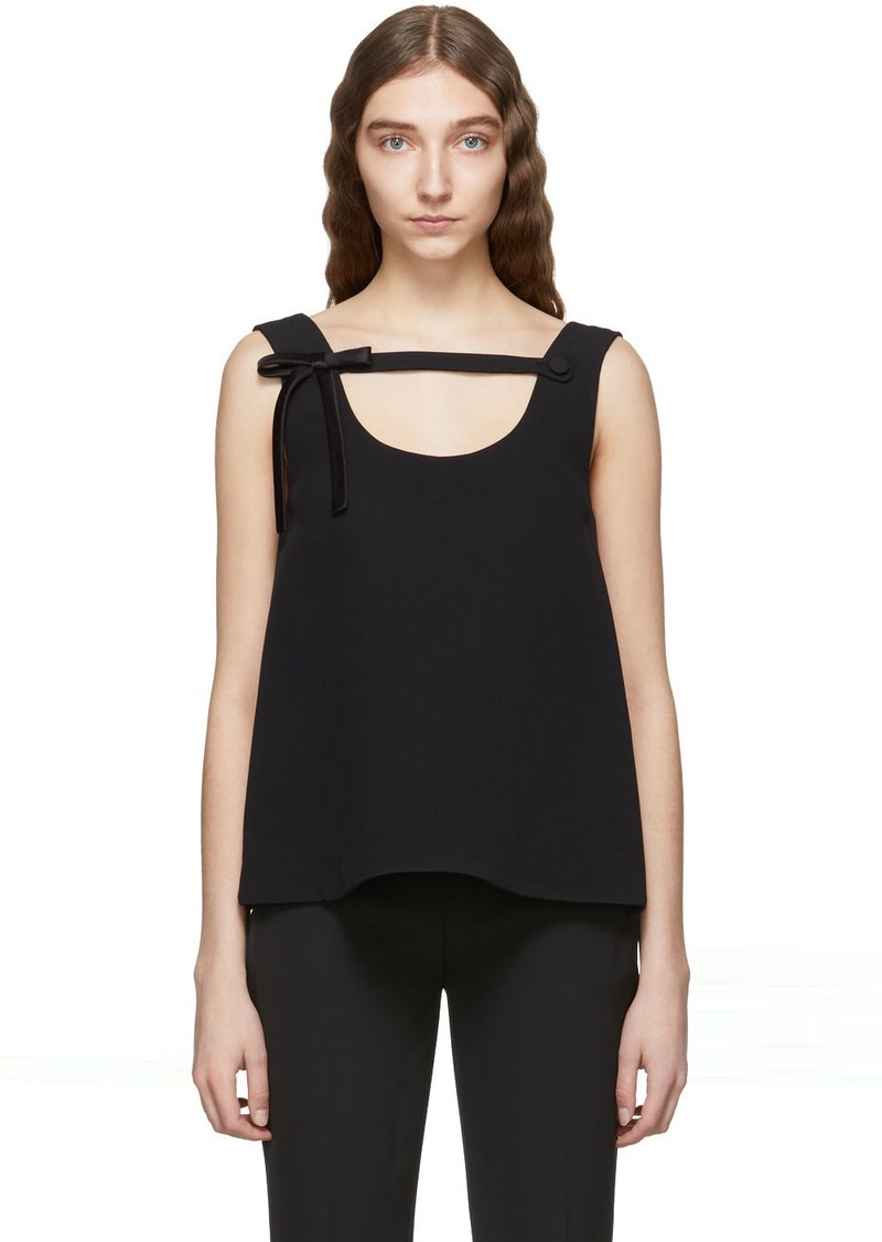 Prada Black Bow Tank Top
