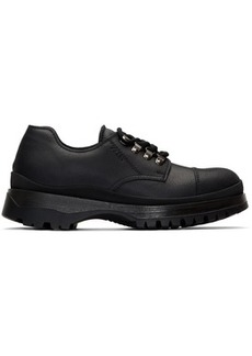 Prada Black Cap Toe Derbys