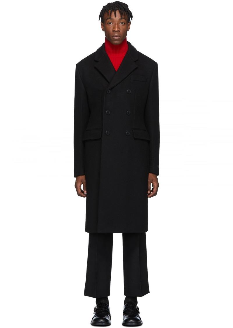 Prada Black Cashmere Double-Breasted Coat