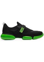 Prada black Cloudbust contrast sole velcro sneakers