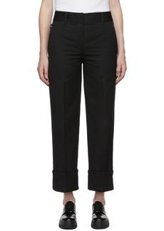 Prada Black Cotton Pocket Logo Trousers