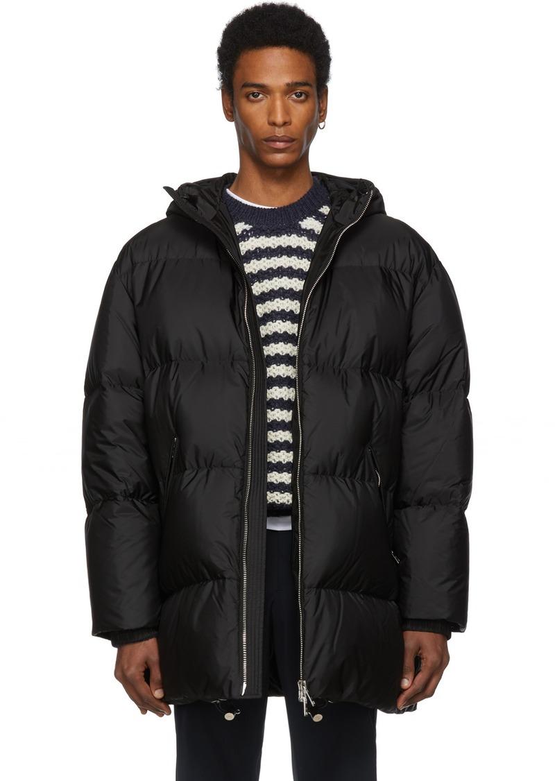 Prada Black Down Oversized Long Jacket