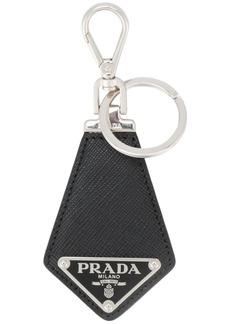 Prada triangle logo keyring