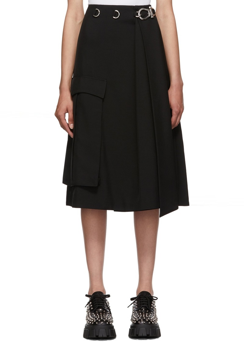 Prada Black Large Pocket Skirt