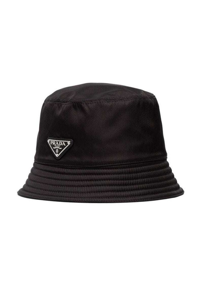 Prada black logo bucket hat  19426a294cc