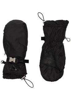 Prada logo-print buckle-detailed mittens