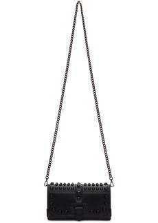 Prada Black Mini Cahier Chain Wallet Bag