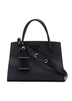 Prada Black monogram leather tote bag