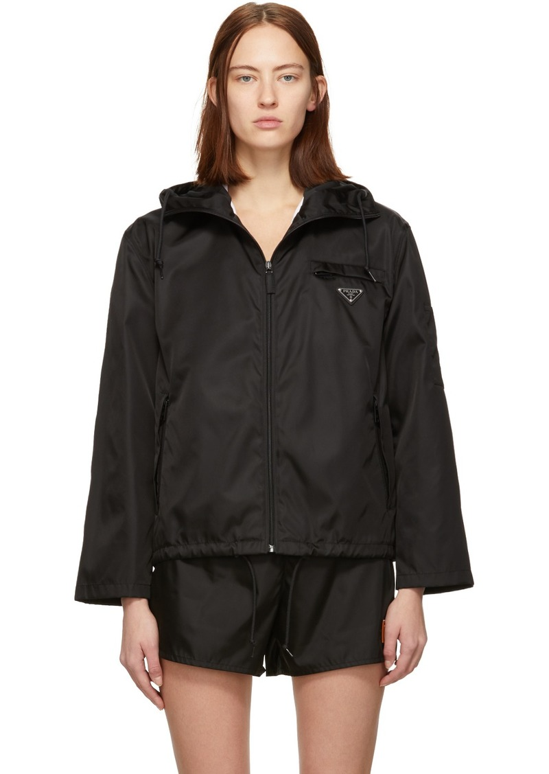 Prada Black Nylon Cropped Jacket