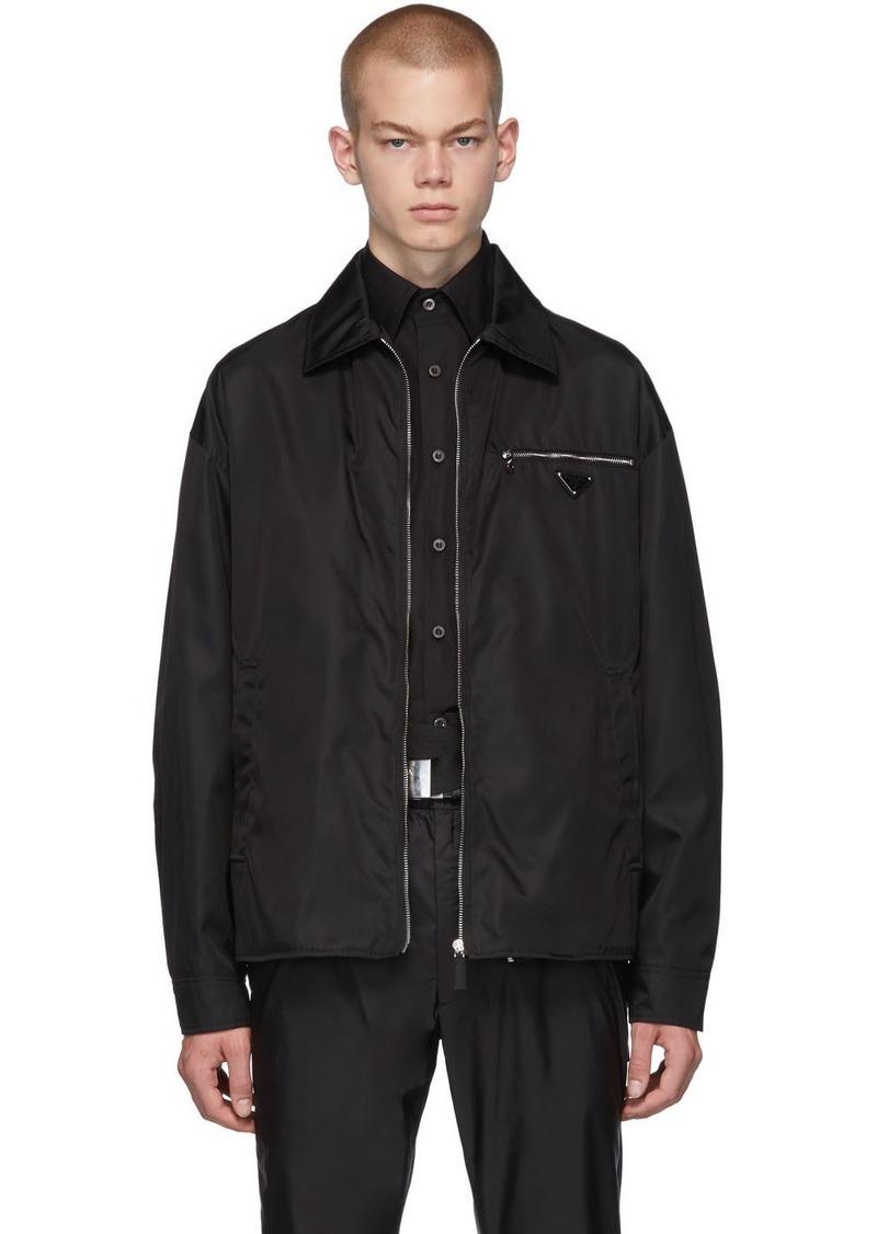Prada Black Nylon Gabardine Jacket