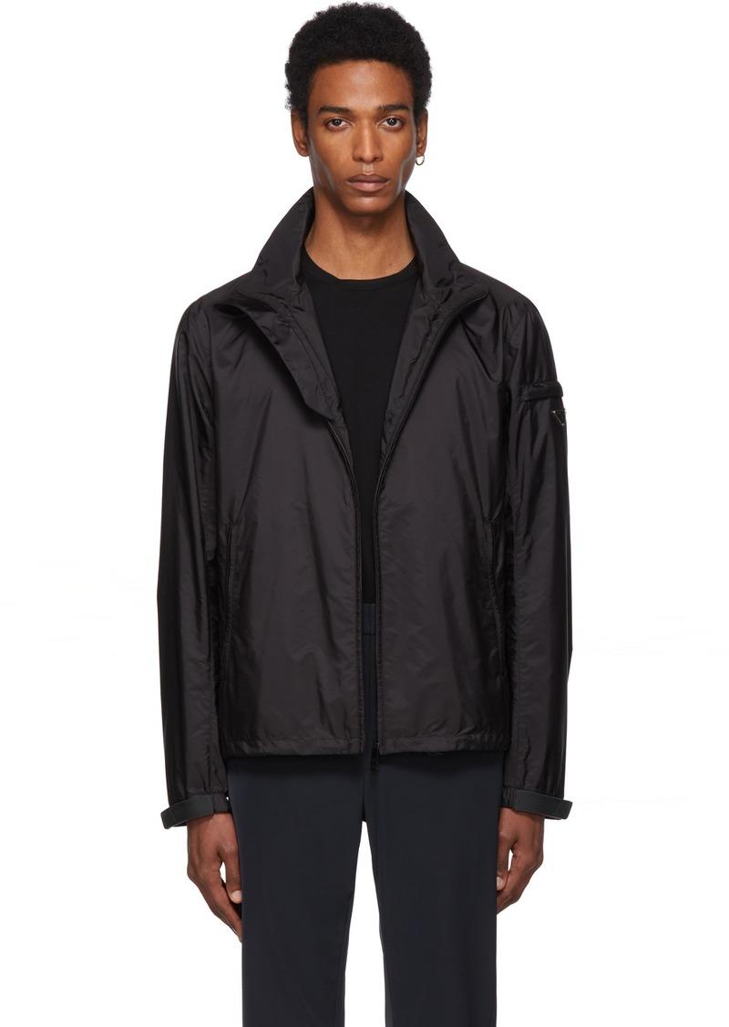Prada Black Nylon Harrington Jacket