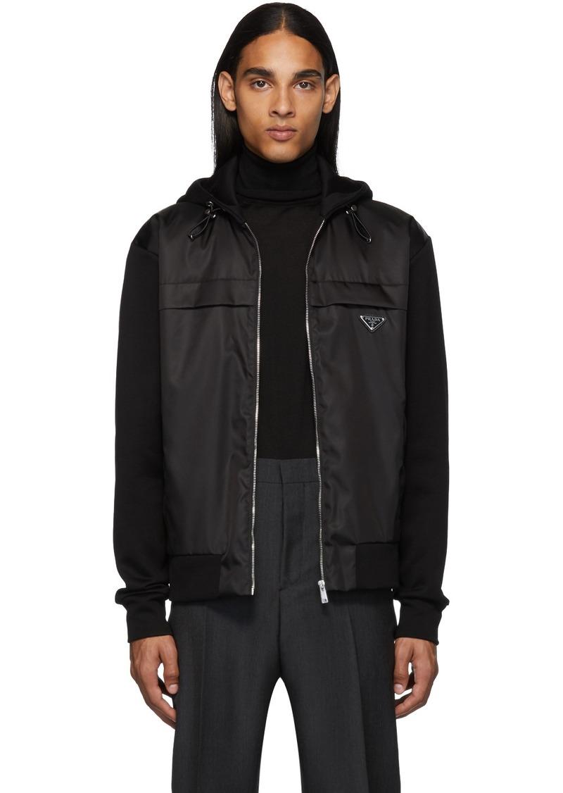 Prada Black Nylon Knit Jacket