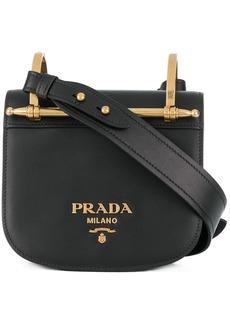 Prada Black Pionniere Leather cross body bag