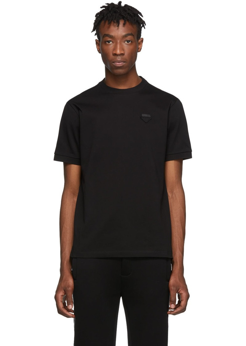 Prada Black Piqué T-Shirt