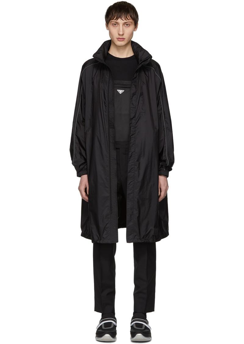 Prada Black Piuma Coat