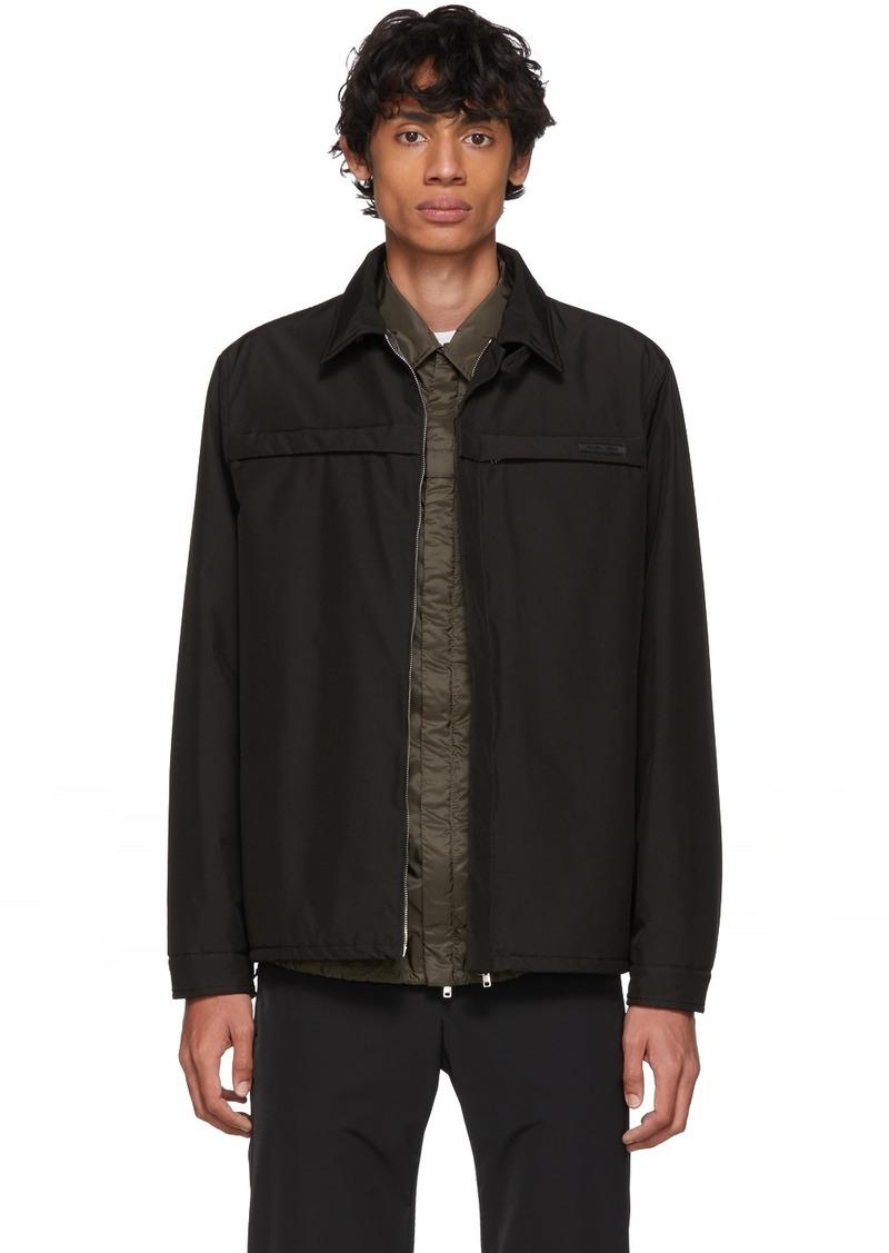 Prada Black Poplin Tech Padded Jacket
