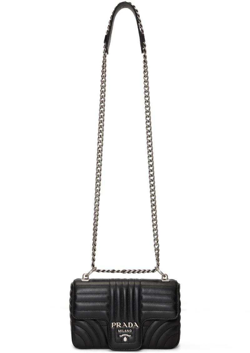 b3071e1f6 Prada Black Quilted Diagram Bag   Handbags