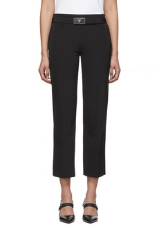Prada Black Square Belt Trousers