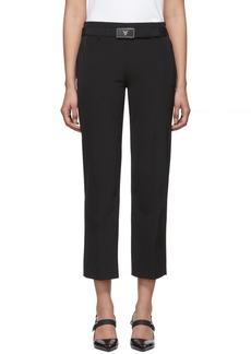 Prada Black Square Belt Trousers