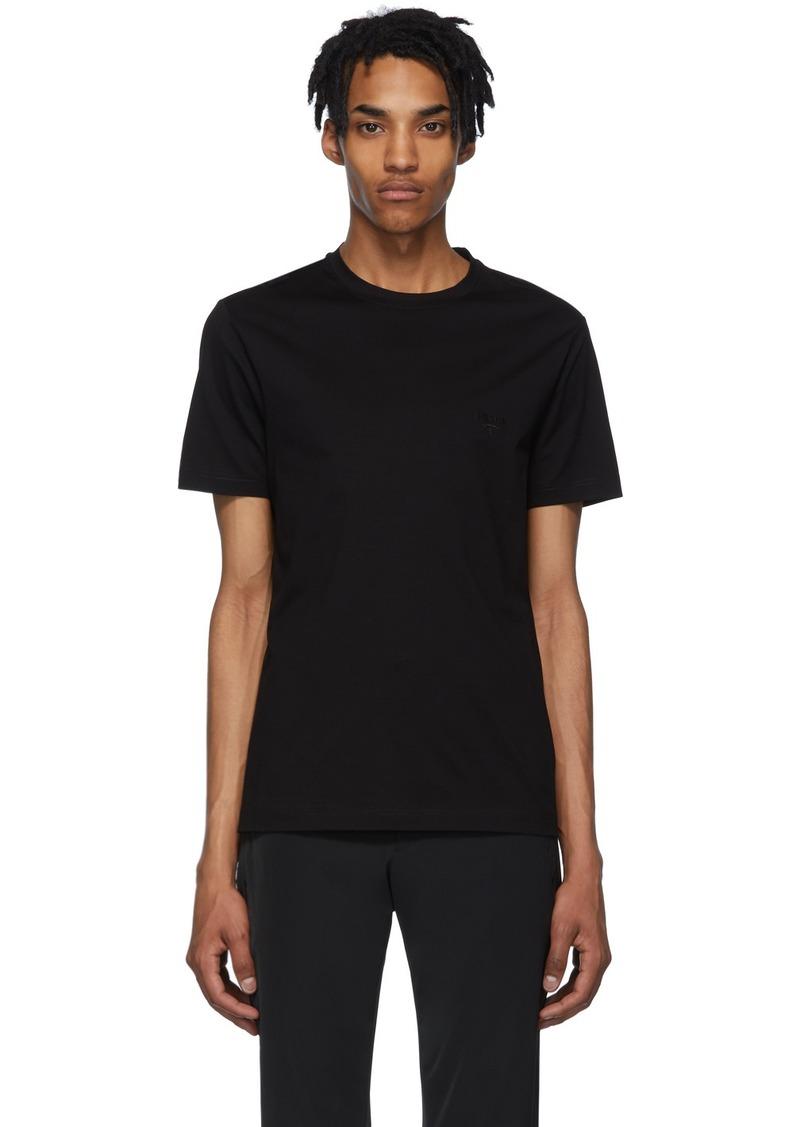 Prada Black Stretch Cotton T-Shirt