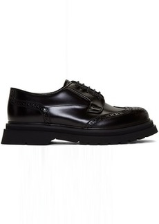 Prada Black Wingtip Brogues