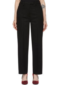 Prada Black Wool Straight Trousers