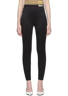Prada Black Zipped Leggings