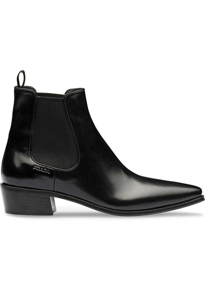 Prada block-heel Chelsea boots