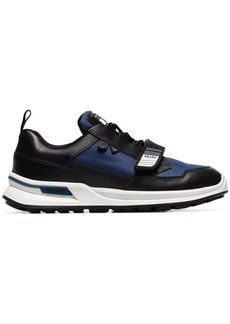 Prada blue and black Work leather low top sneakers