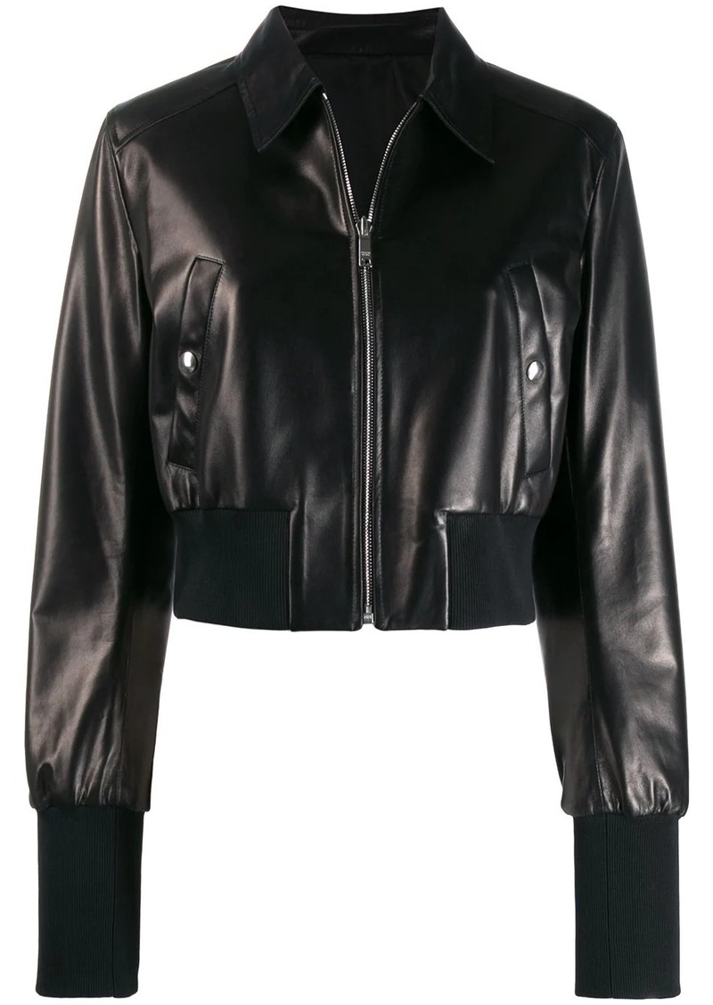 Prada bomber-style lambskin jacket