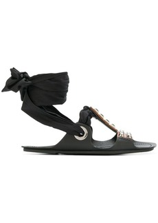 Prada bow detail sandals