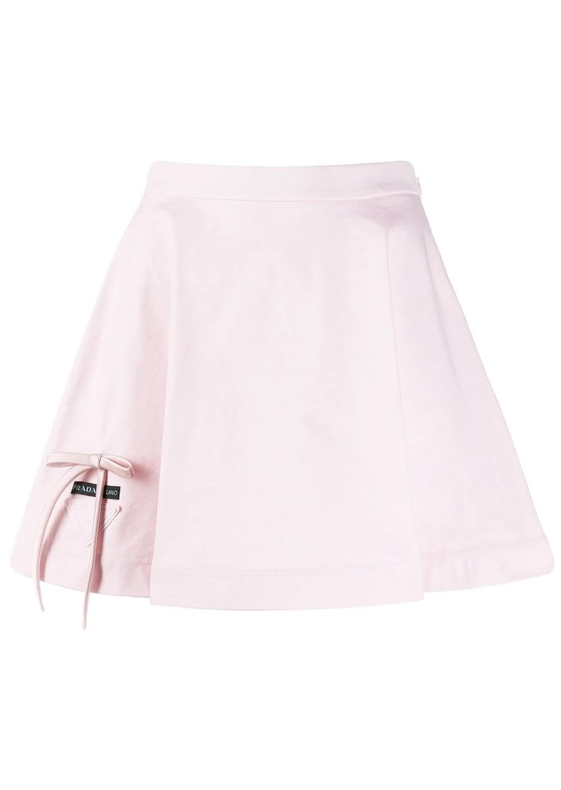 Prada bow-detailed mini skirt