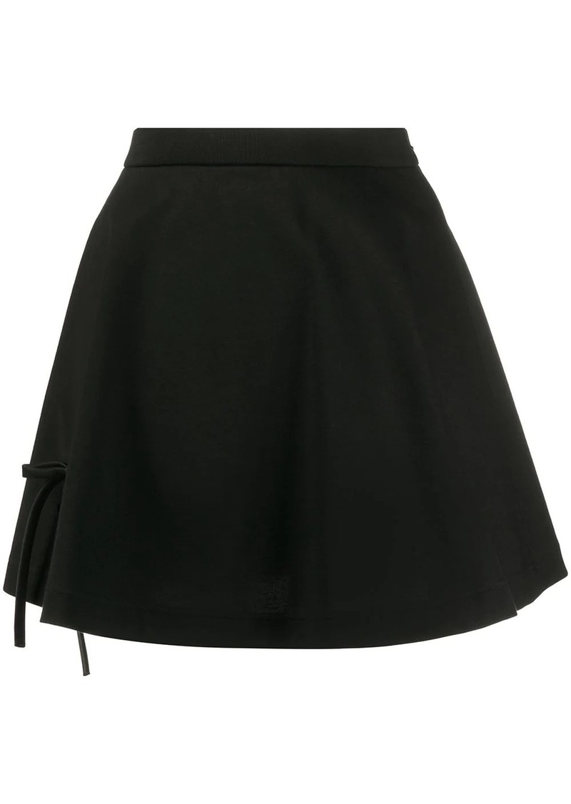 Prada bow ribbon detailed skirt