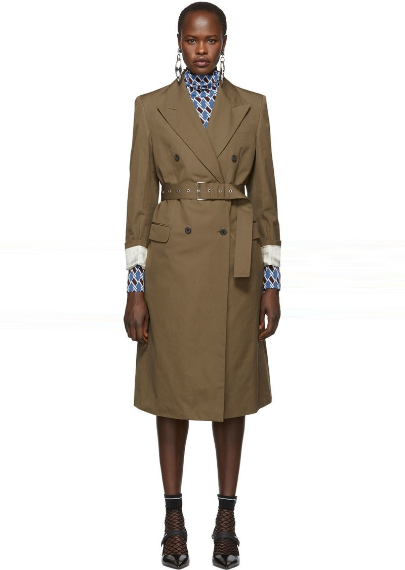 Prada Brown Belted Trench Coat