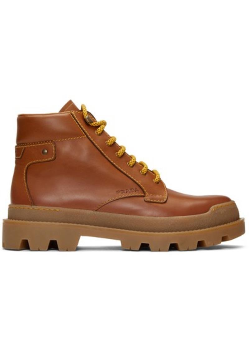 Prada Brown Hiking Boots