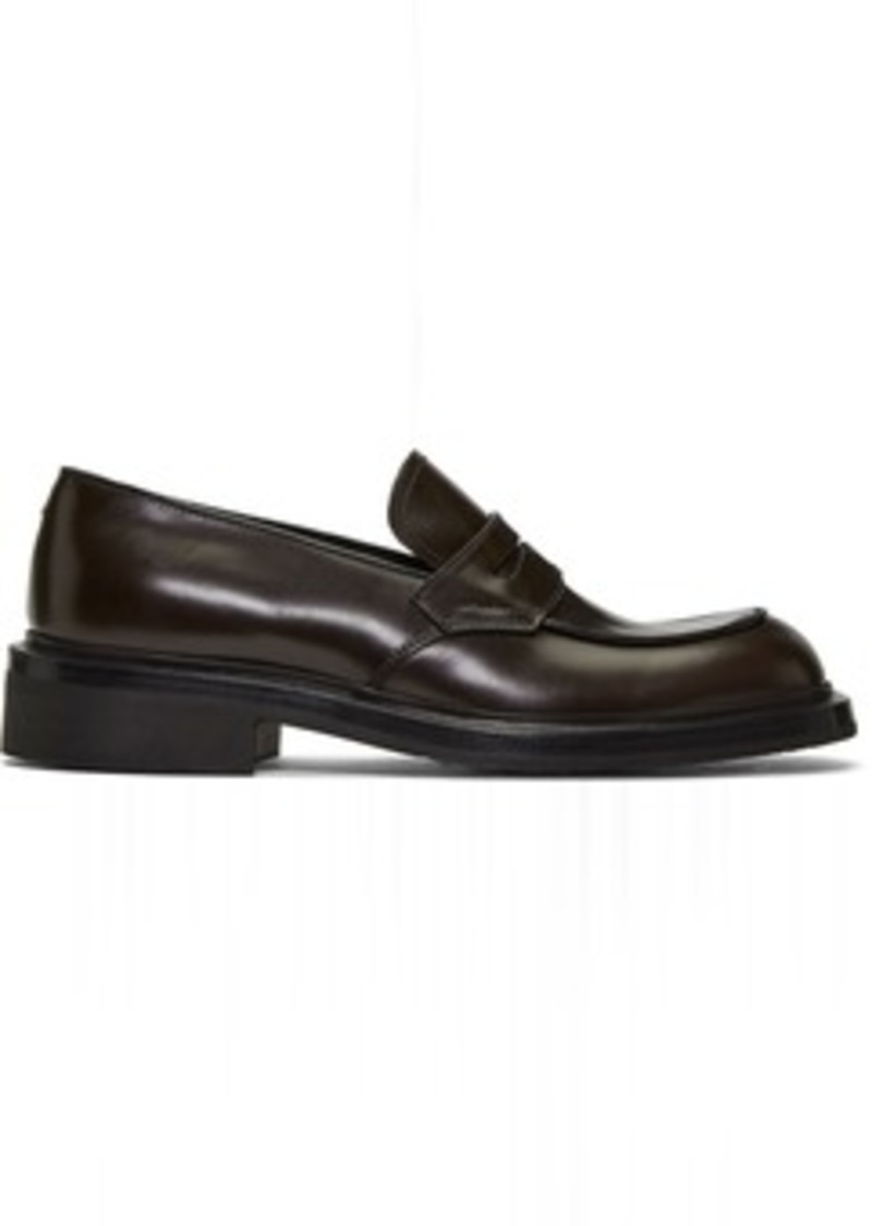 Prada Brown Penny Loafers