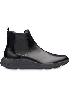 Prada Brushed leather booties