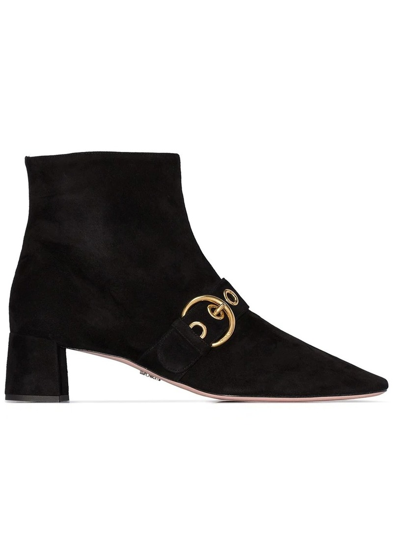 Prada buckle detail 45mm ankle boots