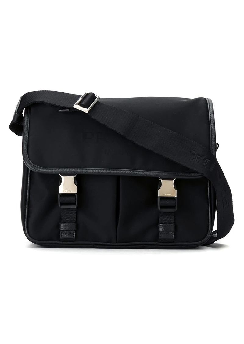 Prada buckled messenger bag