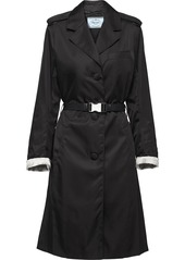 Prada buckled nylon gabardine coat