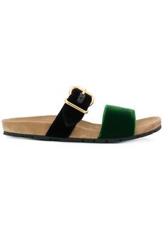 Prada buckled slider sandals