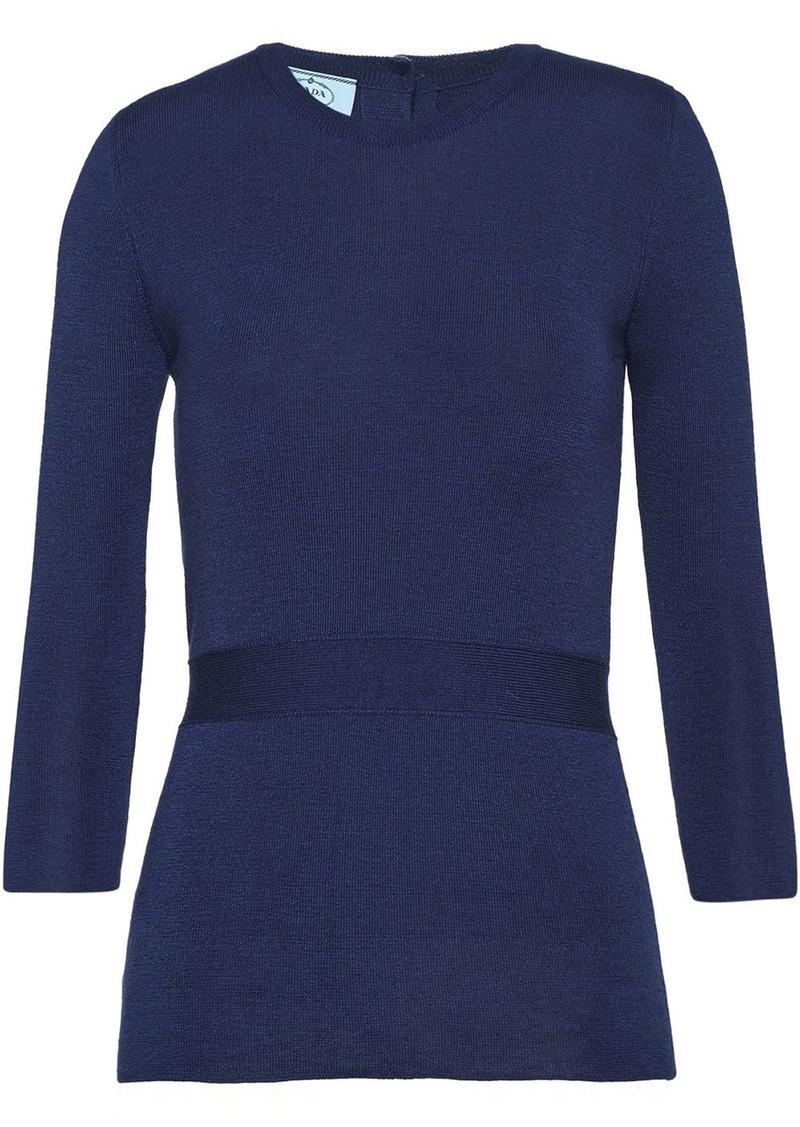 Prada button-detailed jumper