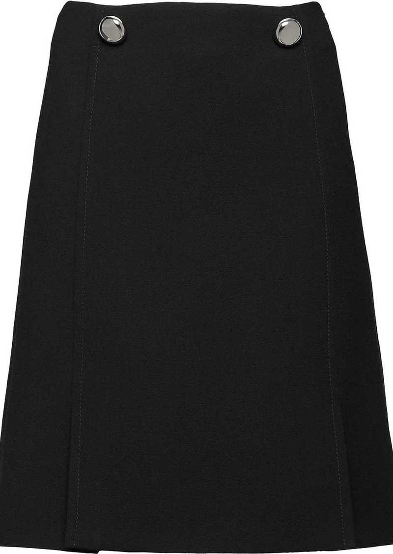 Prada buttoned front panel skirt