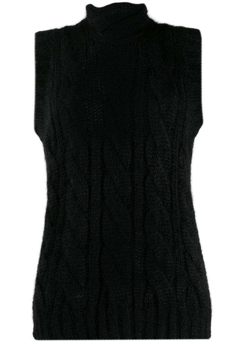 Prada cable knit vest