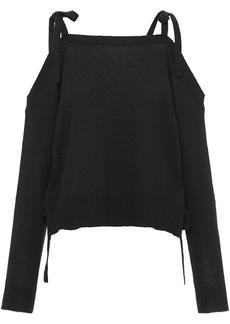 Prada cashmere open shoulder jumper