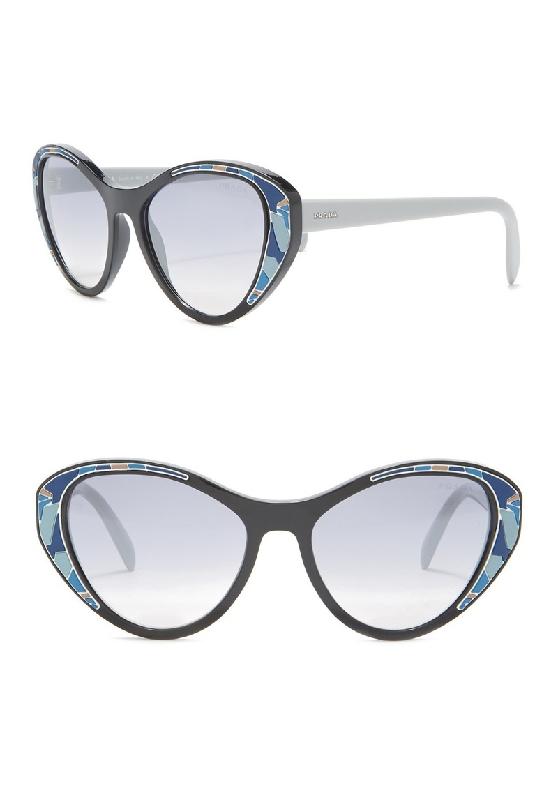 Prada 55mm Cat Eye Sunglasses